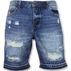 Textiel Heren Korte broeken / Bermuda's Enos Korte Spijkerbroek Shorts J Blauw