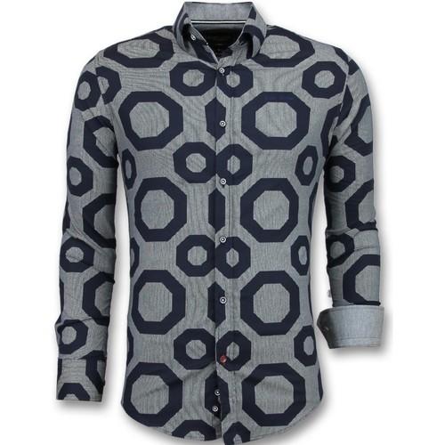Textiel Heren Overhemden lange mouwen Tony Backer Business Overhemden -  Slim Fit - Blauw