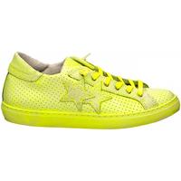 Schoenen Dames Lage sneakers 2 Stars LOW PRINT bianco-giallo