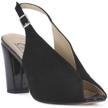 Schoenen Dames Sandalen / Open schoenen Ellen CAMOSCIO NERO Nero