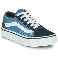 Schoenen Kinderen Lage sneakers Vans UY OLD SKOOL Marine / Wit