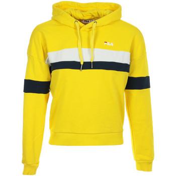 Textiel Dames Sweaters / Sweatshirts Fila Ella Hoodie Wn's Geel