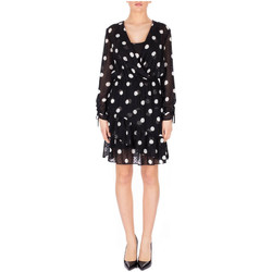 Textiel Dames Korte jurken Liu Jo ABITO ALL IN ONE u9087-black-lt-w-milk-dots