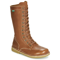 Schoenen Dames Hoge laarzen Kickers MEETKIKNEW Camel