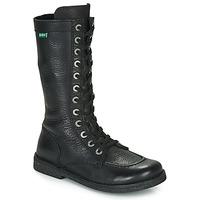 Schoenen Dames Hoge laarzen Kickers MEETKIKNEW Zwart
