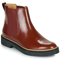 Schoenen Dames Laarzen Kickers OXFORDCHIC Rood / Donker