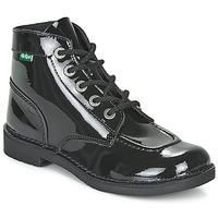 Schoenen Dames Laarzen Kickers KICK COL Zwart / Lak
