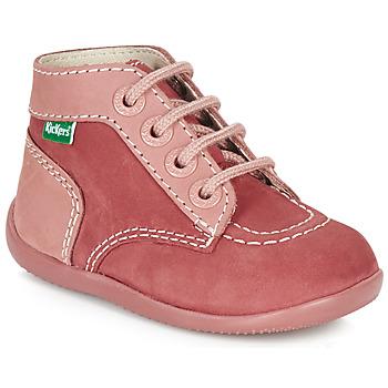 Schoenen Meisjes Laarzen Kickers BONBON Roze