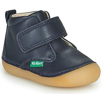 Schoenen Kinderen Laarzen Kickers SABIO Marine