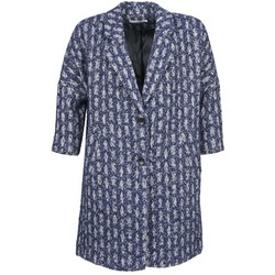 Textiel Dames Mantel jassen See U Soon RIFFLE Blauw / Wit