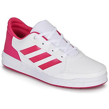 Schoenen Meisjes Lage sneakers adidas Performance ALTASPORT K Wit / Roze