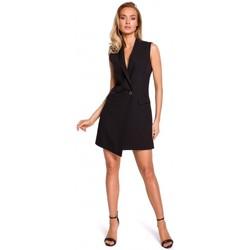 Textiel Dames Jacks / Blazers Moe M439 Mouwloze blazerjurk - zwart