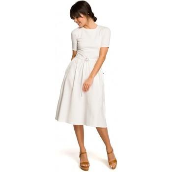 Textiel Dames Vesten / Cardigans Be B120 Fit en flare midi jurk - roze