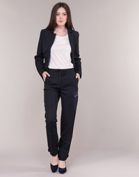 Textiel Dames Cargobroek G-Star Raw FELDSPAR HIGH STRAIGHT CARGO Marine