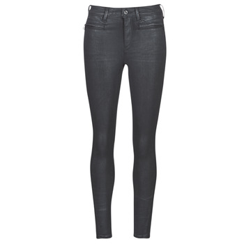 Textiel Dames Skinny Jeans G-Star Raw ASHTIX ZIP HIGH SUPER SKINNY ANKLE WMN Zwart