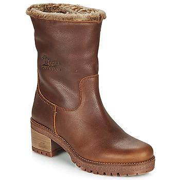 Schoenen Dames Laarzen Panama Jack PIOLA Bruin