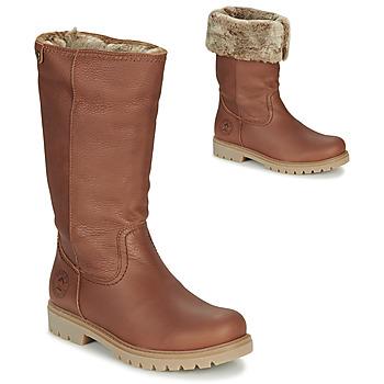 Schoenen Dames Hoge laarzen Panama Jack BAMBINA Bruin