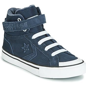 Schoenen Kinderen Hoge sneakers Converse PRO BLAZE STRAP SPACE RIDE SUEDE HI Blauw