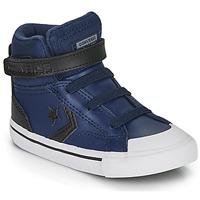 Schoenen Kinderen Hoge sneakers Converse PRO BLAZE STRAP MARTIAN LEATHER HI Blauw / Zwart