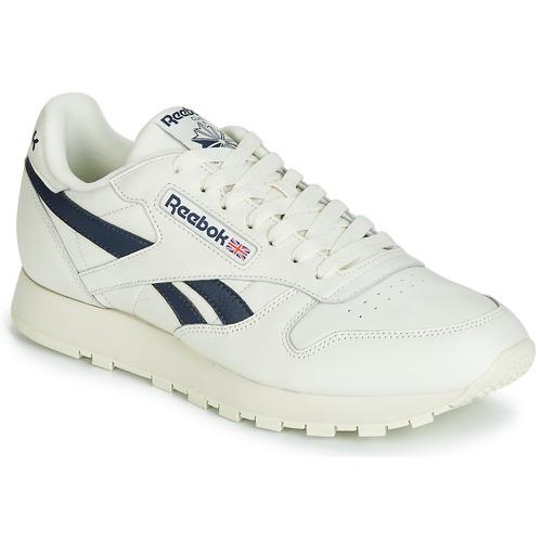 Schoenen Lage sneakers Reebok Classic CL LEATHER MU Wit / Zwart