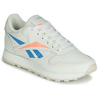 Schoenen Dames Lage sneakers Reebok Classic CL LTHR Beige / Blauw / Oranje