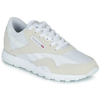 Schoenen Kinderen Lage sneakers Reebok Classic CL NYLON J Wit / Beige