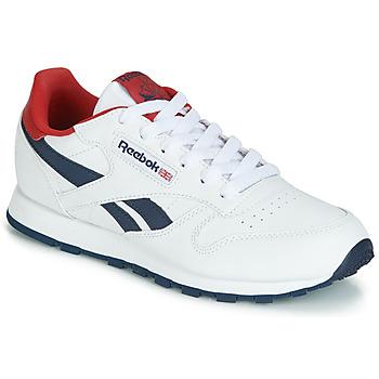 Schoenen Kinderen Lage sneakers Reebok Classic CLASSIC LEATHER J Wit / Rood