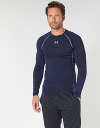 Textiel Heren T-shirts met lange mouwen Under Armour HEATGEAR ARMOUR LS COMPRESSION Marine