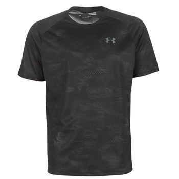 Textiel Heren T-shirts korte mouwen Under Armour TECH 2.0 SS PRINTED Zwart