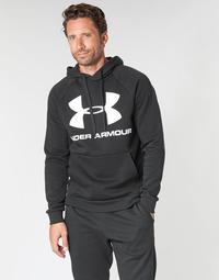 Textiel Heren Sweaters / Sweatshirts Under Armour RIVAL FLEECE SPORTSTYLE LOGO HOODIE Zwart