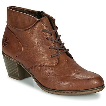 Schoenen Dames Enkellaarzen Rieker Y2131-24 Bruin