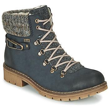 Schoenen Dames Laarzen Rieker Y9131-16 Blauw