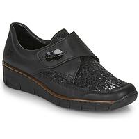 Schoenen Dames Mocassins Rieker 537C0-02 Zwart