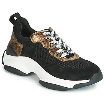 Schoenen Dames Lage sneakers Mam'Zelle HELIUM Zwart / Brons