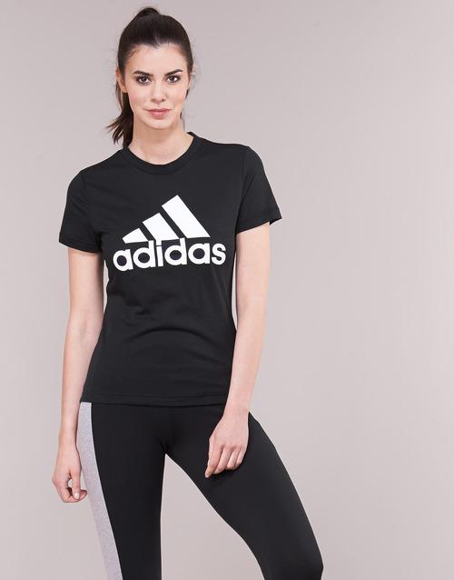 adidas Performance DY7734 Zwart - Gratis levering  Textiel T-shirts korte mouwen Dames