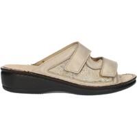 Schoenen Dames Leren slippers Clia Walk Estraibile408 Platinum