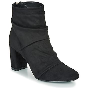 Schoenen Dames Enkellaarzen Moony Mood FIRETTE Zwart