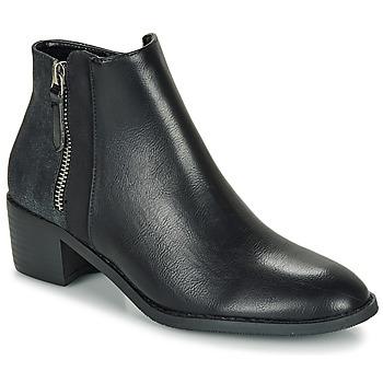 Schoenen Dames Laarzen Moony Mood FALINE Zwart