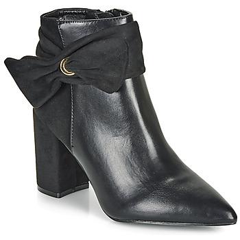 Schoenen Dames Enkellaarzen Moony Mood FALABEL Zwart