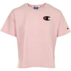 Textiel Dames T-shirts korte mouwen Champion Crewneck T-shirt Cropped Roze