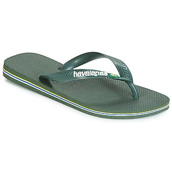 Schoenen Teenslippers Havaianas BRASIL LOGO Olijf