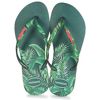Schoenen Dames Teenslippers Havaianas SLIM SENSATION Groen