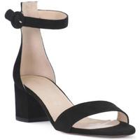 Schoenen Dames Sandalen / Open schoenen Priv Lab CAMOSCIO NERO Nero