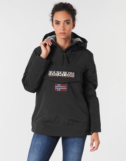 Textiel Dames Parka jassen Napapijri RAINFOREST WINTER Zwart