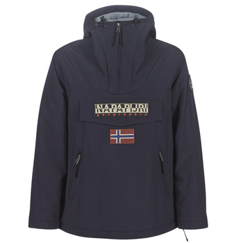 Textiel Dames Parka jassen Napapijri RAINFOREST POCKET Marine