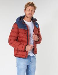 Textiel Heren Dons gevoerde jassen Napapijri ARIC Rood