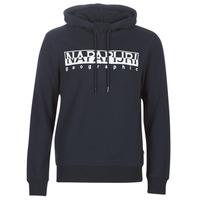 Textiel Heren Sweaters / Sweatshirts Napapijri BERBER HOODIE Marine