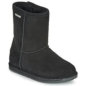 Schoenen Meisjes Laarzen EMU BRUMBY LO WATERPROOF Zwart