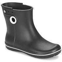 Schoenen Dames Regenlaarzen Crocs JAUNT SHORTY BOOT W-BLACK Zwart