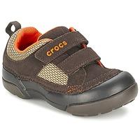 Schoenen Jongens Lage sneakers Crocs DAWSON HOOK & LOOP Bruin
